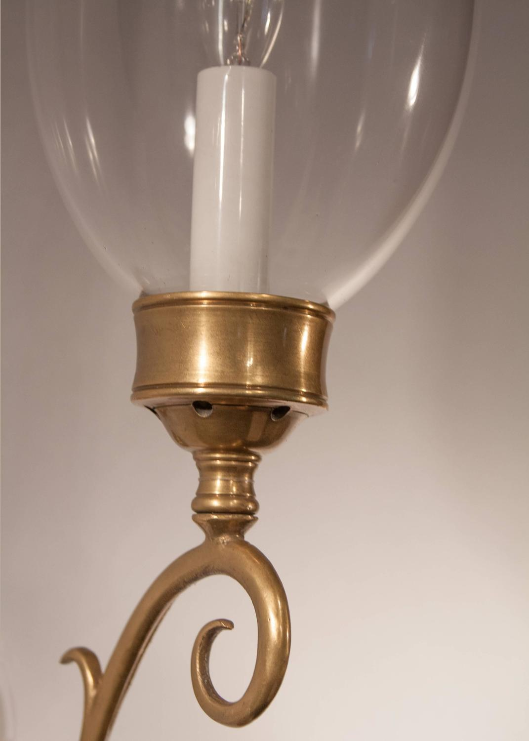 Hurricane Wall Sconces Lamps : Pair of 19th Century English Hurricane Wall Sconces at 1stdibs