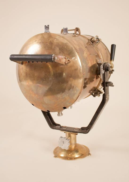 Japanese Vintage Nautical Brass Daylight Signaling Lamp For Sale