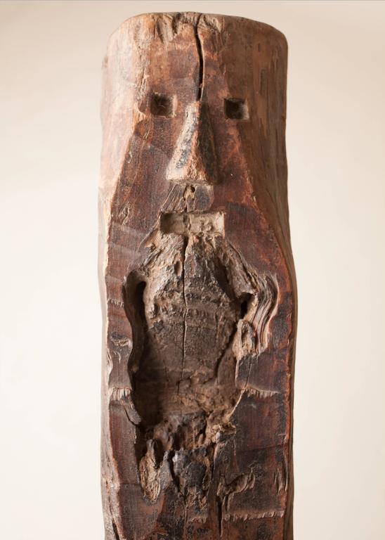 19th Century Tribal Teak Wood Ladder For Sale 1