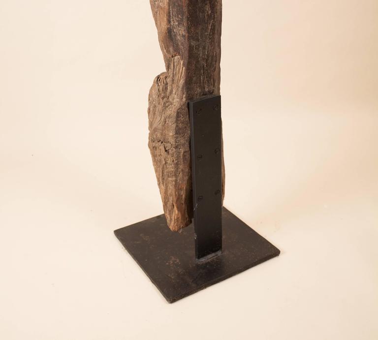 19th Century Tribal Teak Wood Ladder For Sale 3