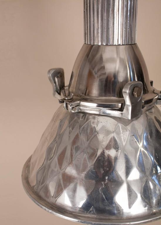 Unknown Pressed Aluminum Industrial Pendant Light For Sale