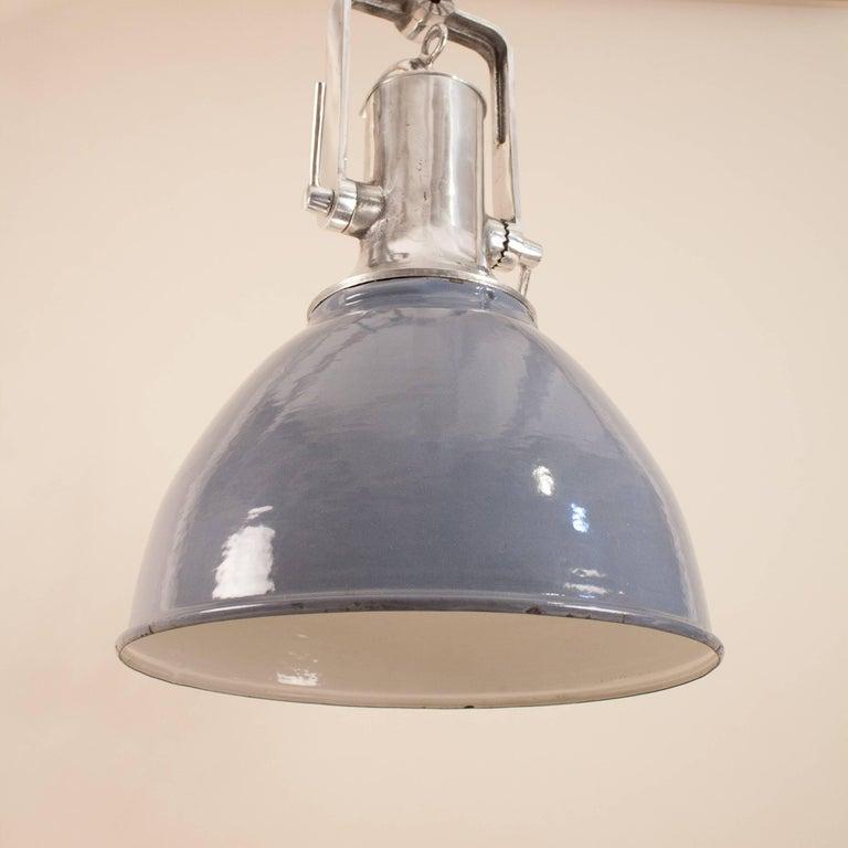 Large gray enamel and aluminum industrial or nautical pendant light european large gray enamel and aluminum industrial or nautical pendant light for sale aloadofball Images