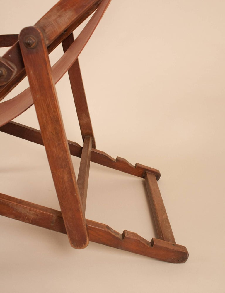 20th Century British Campaign Sling Lounge Chair For Sale