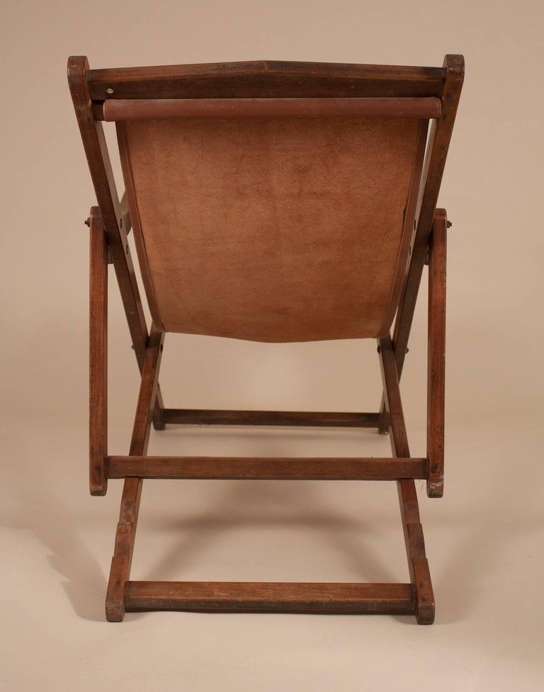 British Campaign Sling Lounge Chair For Sale 1