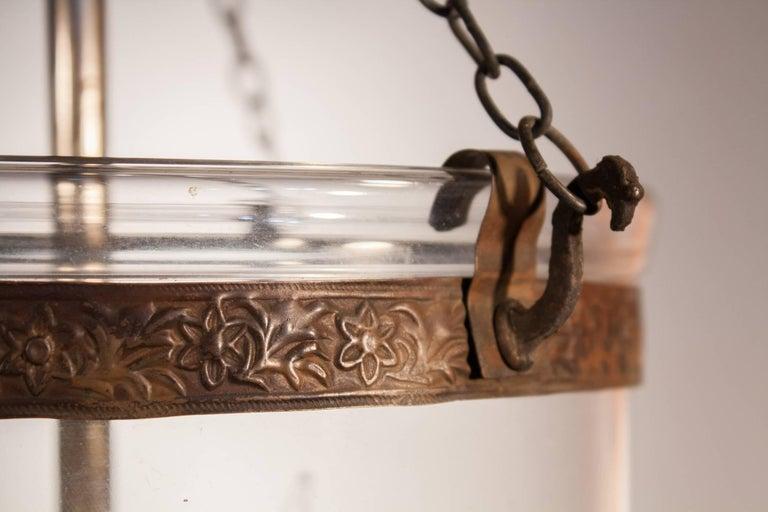 English Clear Glass Bell Jar Lantern At 1stdibs