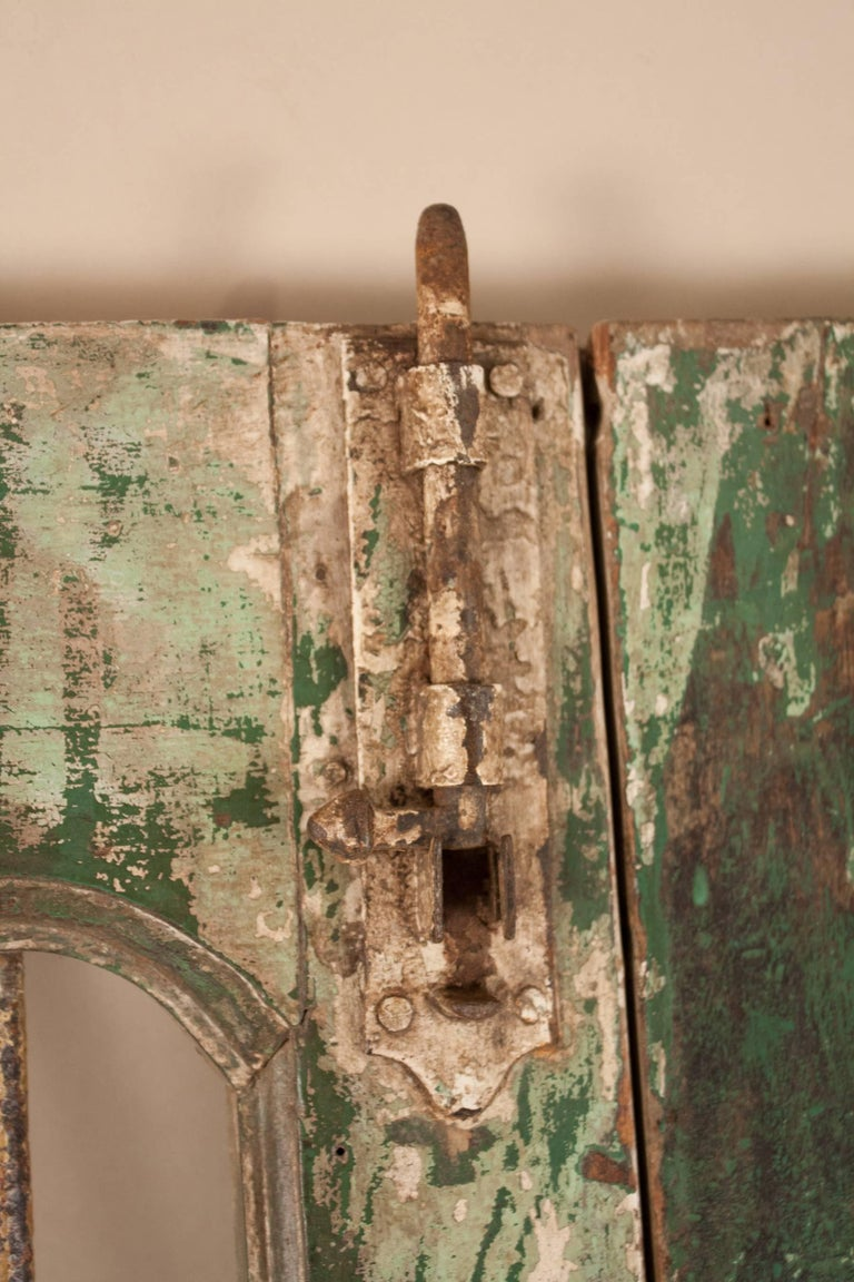 Teak Wood And Iron Courtyard Gate Or Doors At 1stdibs
