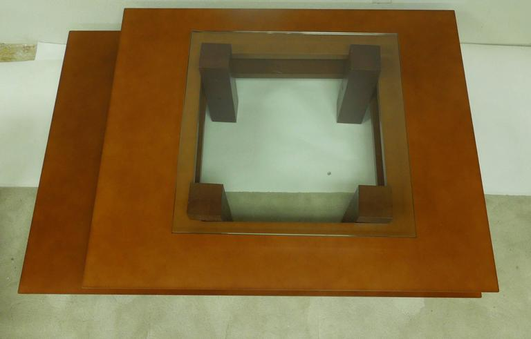 Late 20th Century Three-Tier 1990s Vintage French Modern Coffee Table by Clemmer Heidsieck For Sale