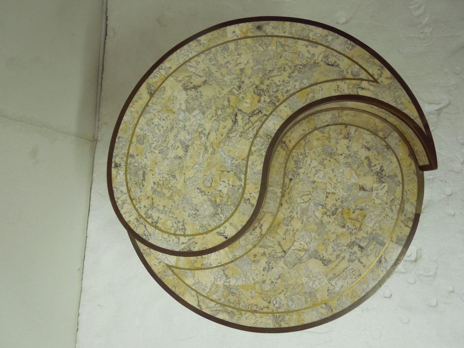 Maitland smith stone and brass yin yang table for sale at for Table yin yang basse