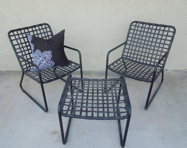 Vintage Four Piece Set Of Brown Jordan Patio Furniture For
