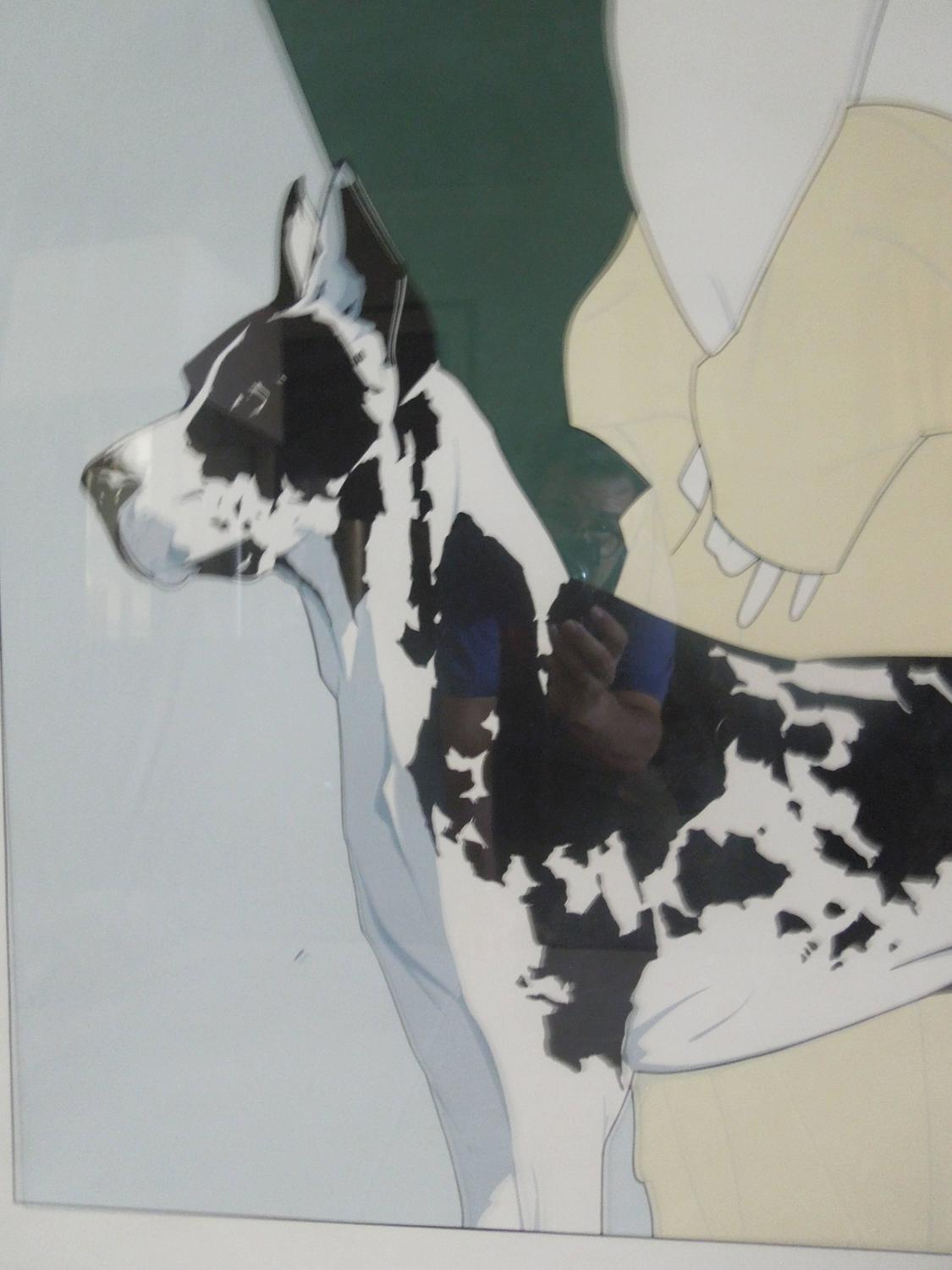Rare 1982 Large Limited Edition Patrick Nagel Quot Great Dane