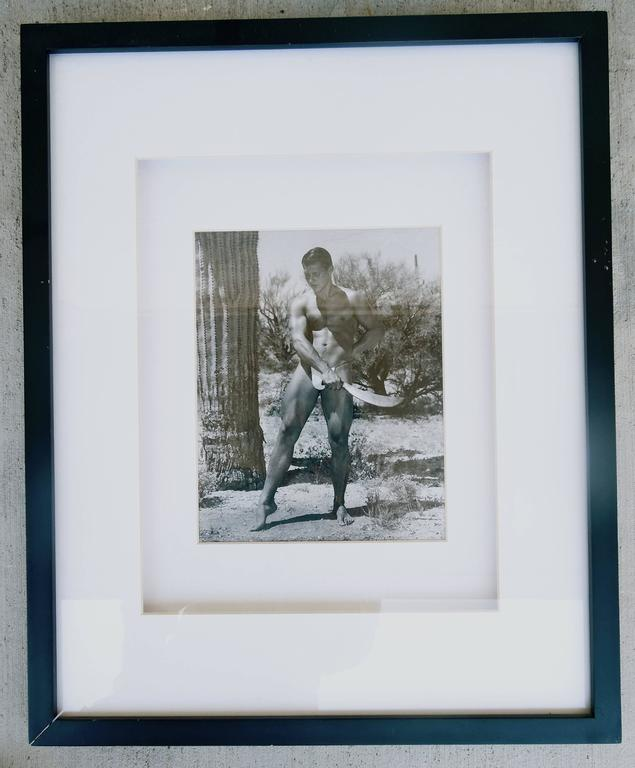 Mid-Century Modern Rare Matched Pair of Bruce Bellas Male Physique Vintage Palm Springs Photographs
