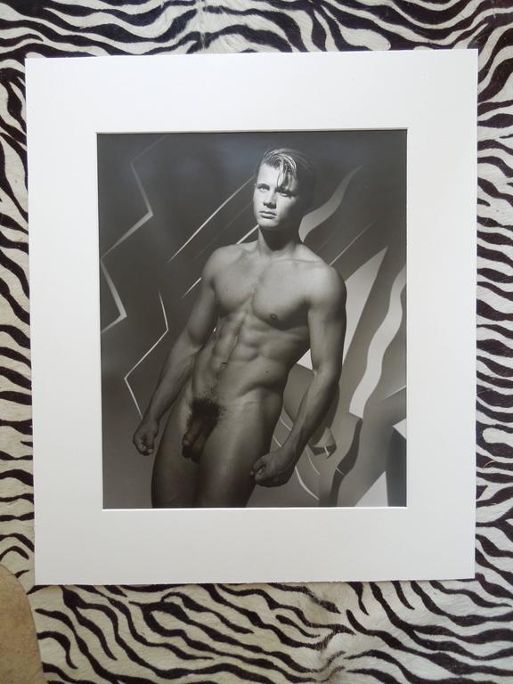 "1989 Original Michael Roberts Photograph ""Portrait of ""Michel"" Hamilton's London In Excellent Condition For Sale In Palm Springs, CA"