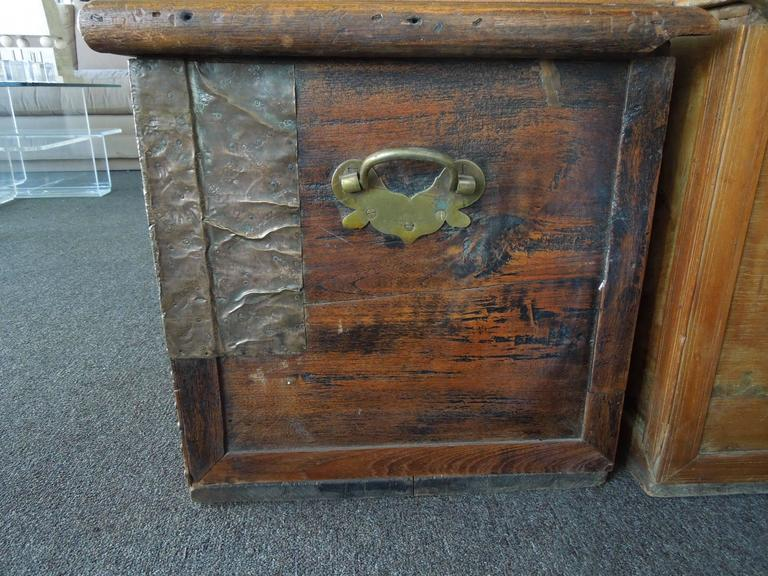 Pair of Celebrity Owned Rare 19th Century Zanzibar Chests, Nightstands 6