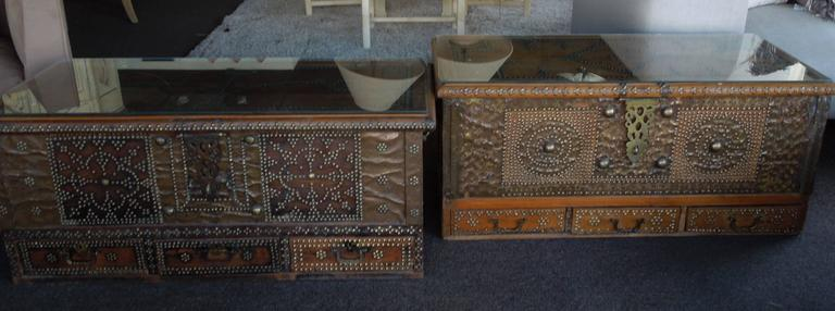 Pair of Celebrity Owned Rare 19th Century Zanzibar Chests, Nightstands 10