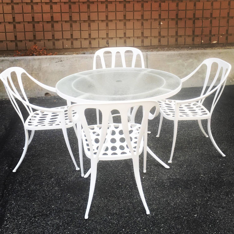 rare 1960s hollywood regency breakfast patio set by brown