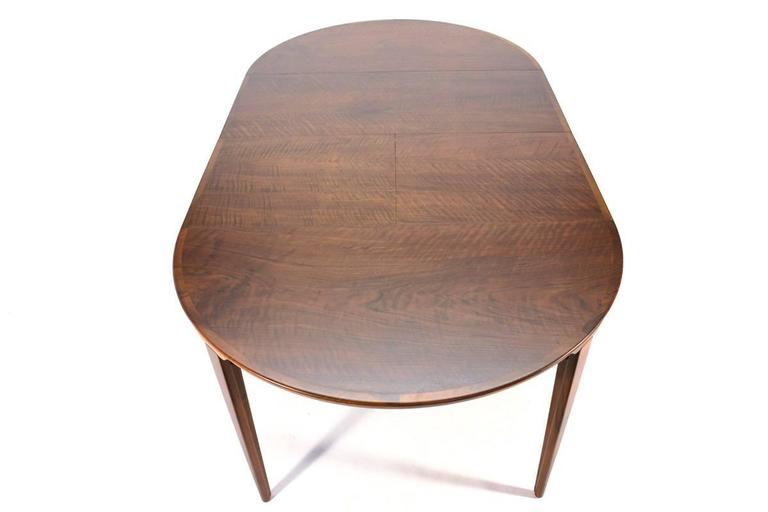 Round Walnut Dining Table By Rosengren Hansen At 1stdibs