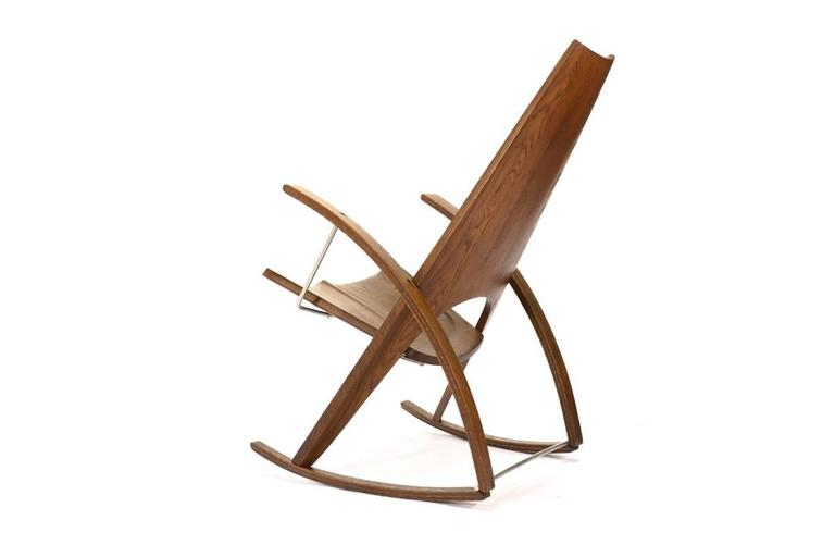 Studio Craft Rocking Chair By Leon Meyer For Sale At 1stdibs