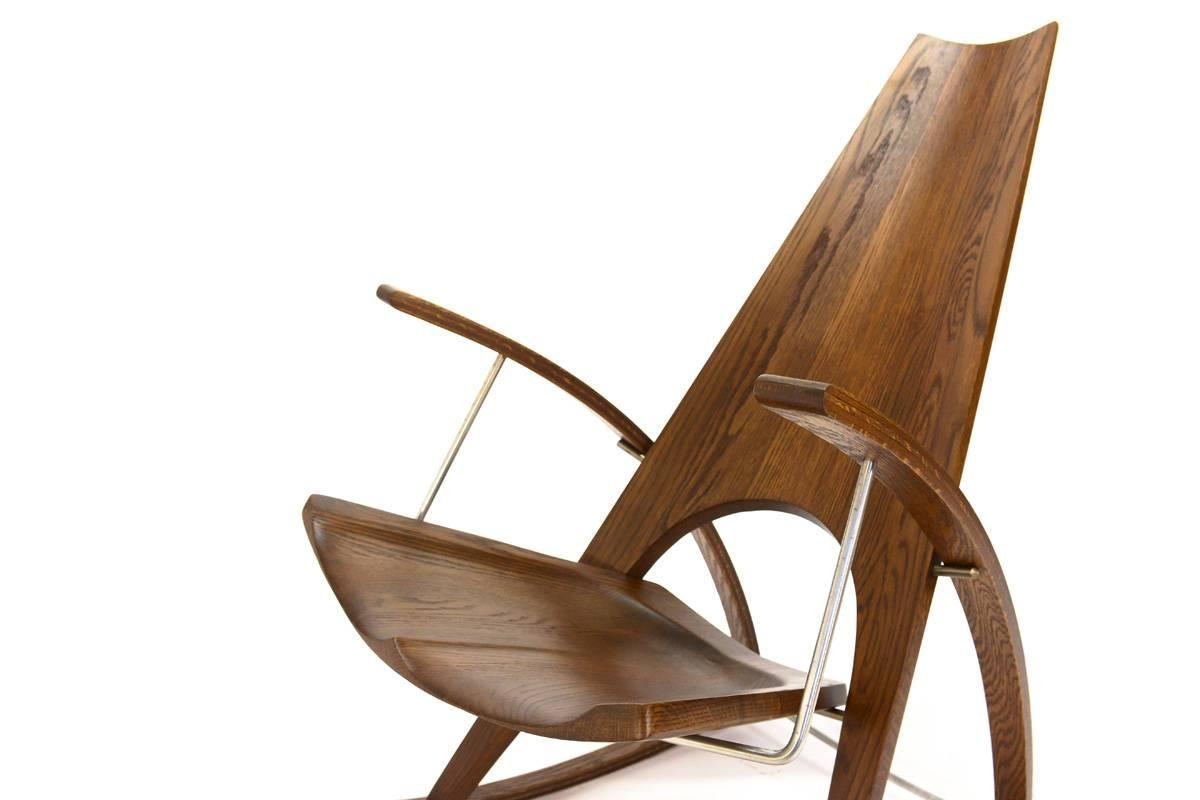 Studio craft rocking chair by leon meyer for sale at 1stdibs Leon meyer