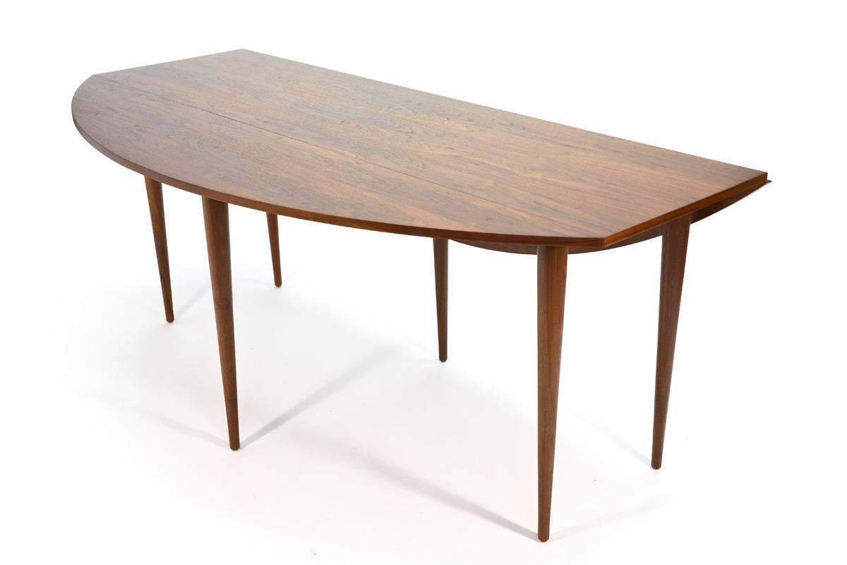 Walnut oval drop leaf dining table at 1stdibs for Oval dining table