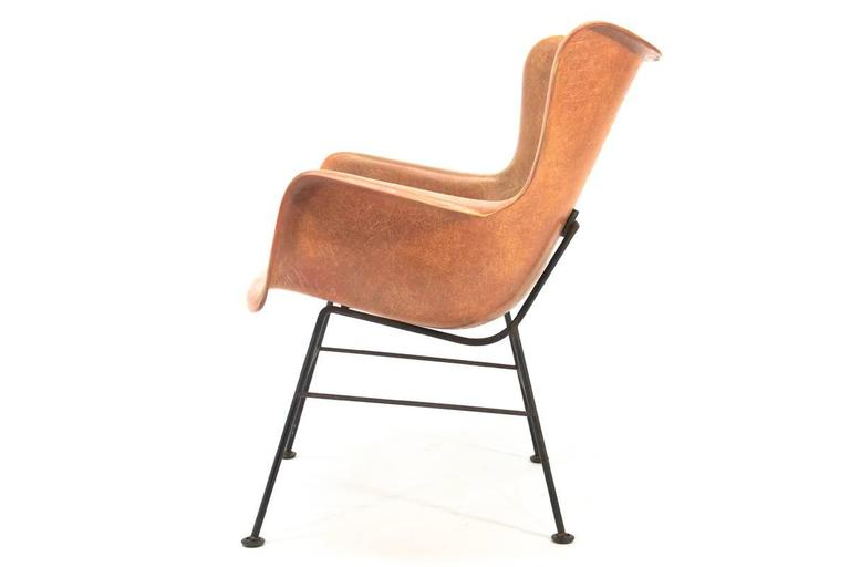 Fiberglass Shell Chair By Lawrence Peabody For Selig 3