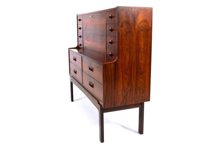 Rosewood Secretary Desk by Arne Wahl Iversen at 1stdibs