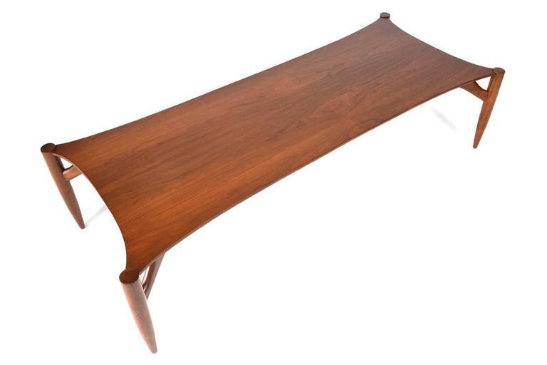 "Rare coffee table designed by Greta Grossman for Glenn of California, 1959.  Measures: 61.5"" long x 25.5"" deep x 15.25"" tall."