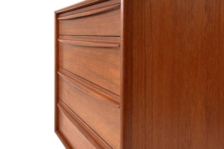 20th Century Teak Chest of Drawers by Svend Madsen for Falster For Sale