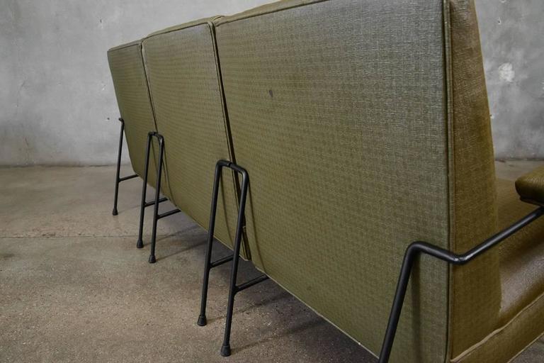 Milo Baughman for Pacific Iron Modular Sofa In Good Condition For Sale In Long Beach, CA