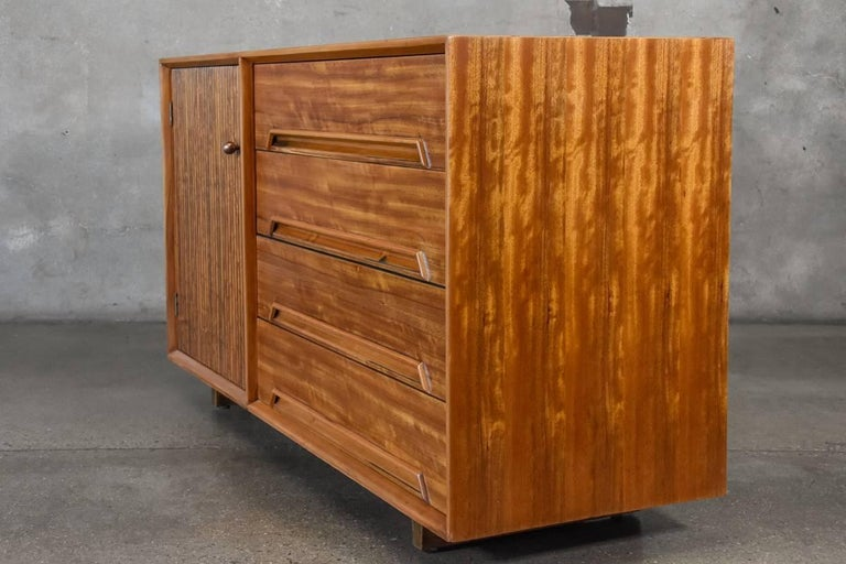 Drexel Perspective Credenza by Milo Baughman In Good Condition For Sale In Long Beach, CA