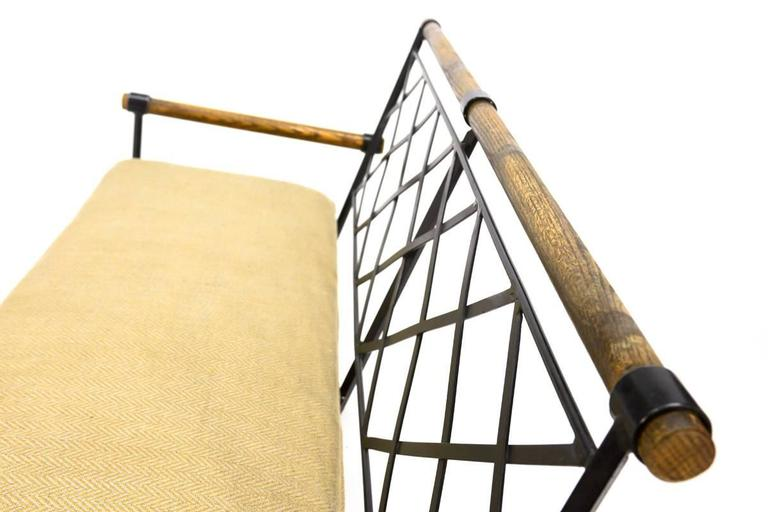 Oak And Iron Bench By Cleo Baldon For Terra At 1stdibs