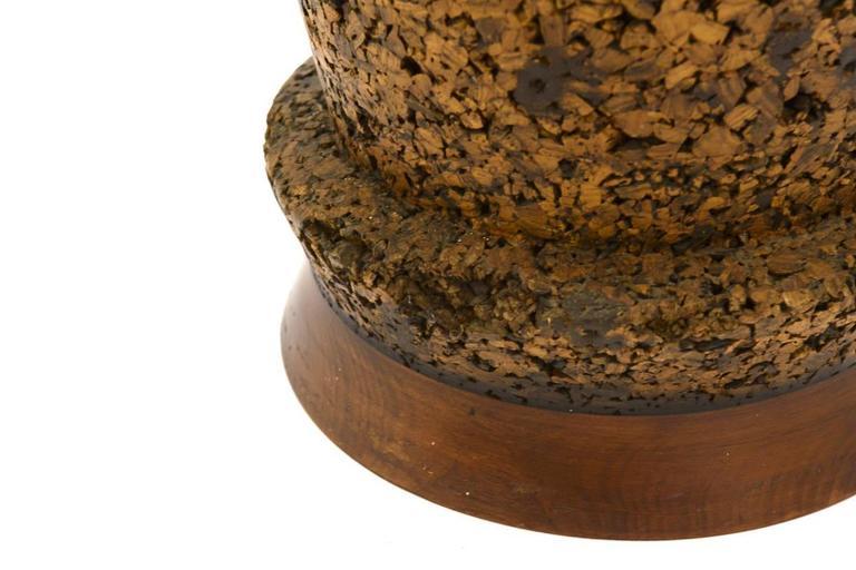 20th Century Massive Cork Floor Lamp For Sale
