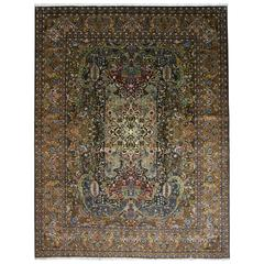 Persian Tabriz 20th Century Oriental Masterpiece Rug