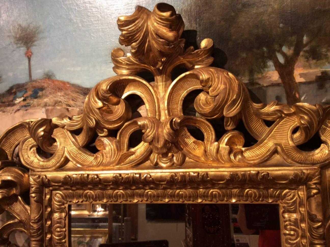 18th century baroque italian mirror at 1stdibs for Baroque italien
