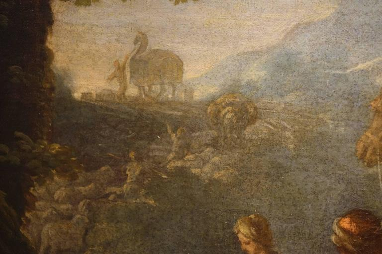 Jacob Returns to Canaan, Oil on Canvas Attributed to Charles Amedée Van Loo For Sale 1