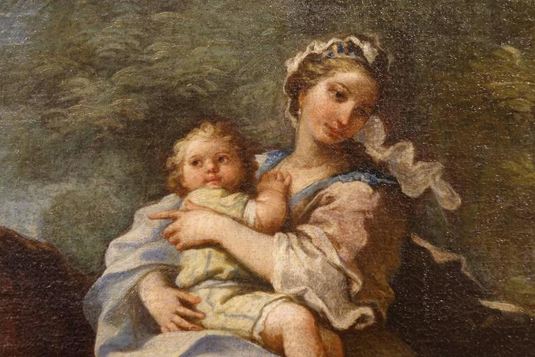 Painted Jacob Returns to Canaan, Oil on Canvas Attributed to Charles Amedée Van Loo For Sale