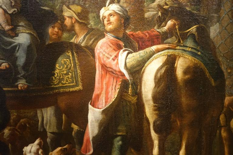 Baroque Jacob Returns to Canaan, Oil on Canvas Attributed to Charles Amedée Van Loo For Sale