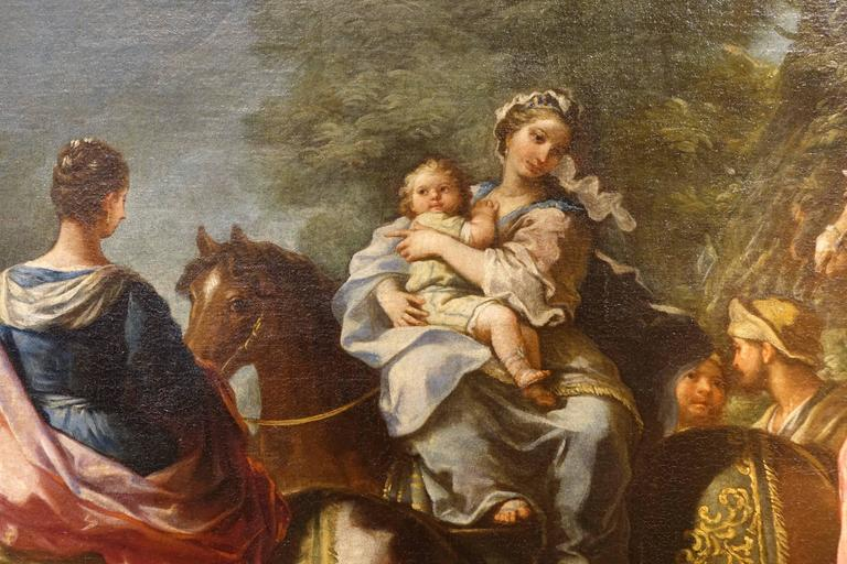French Jacob Returns to Canaan, Oil on Canvas Attributed to Charles Amedée Van Loo For Sale