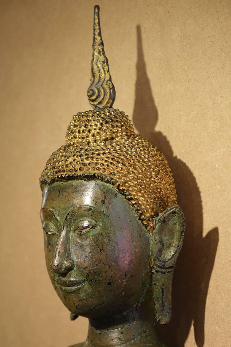 Ayutthaya Style Standing Bronze Figure of Buddha, Mid-17th Century, Thailand For Sale 3