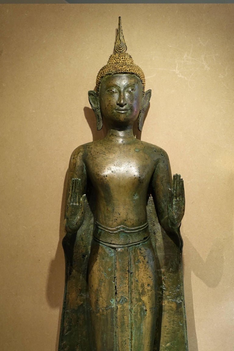 Ayutthaya Style Standing Bronze Figure of Buddha, Mid-17th Century, Thailand For Sale 6
