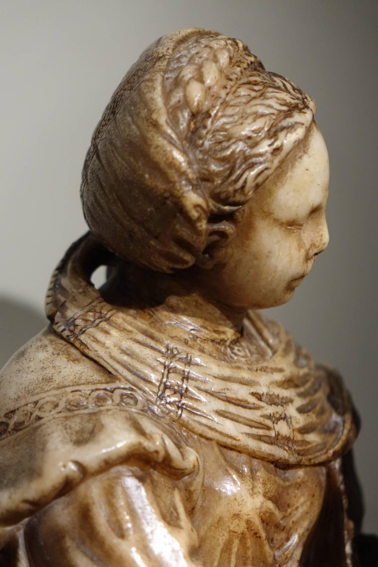Virgin And Child Freestanding Sculpture In The Round