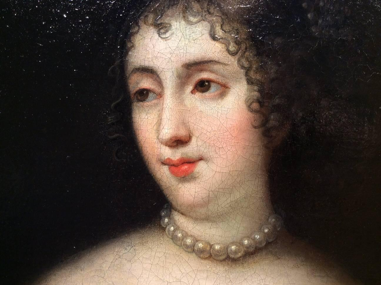 portrait of elisabeth de montmorency princess of mecklenburg 17th century for sale at 1stdibs. Black Bedroom Furniture Sets. Home Design Ideas