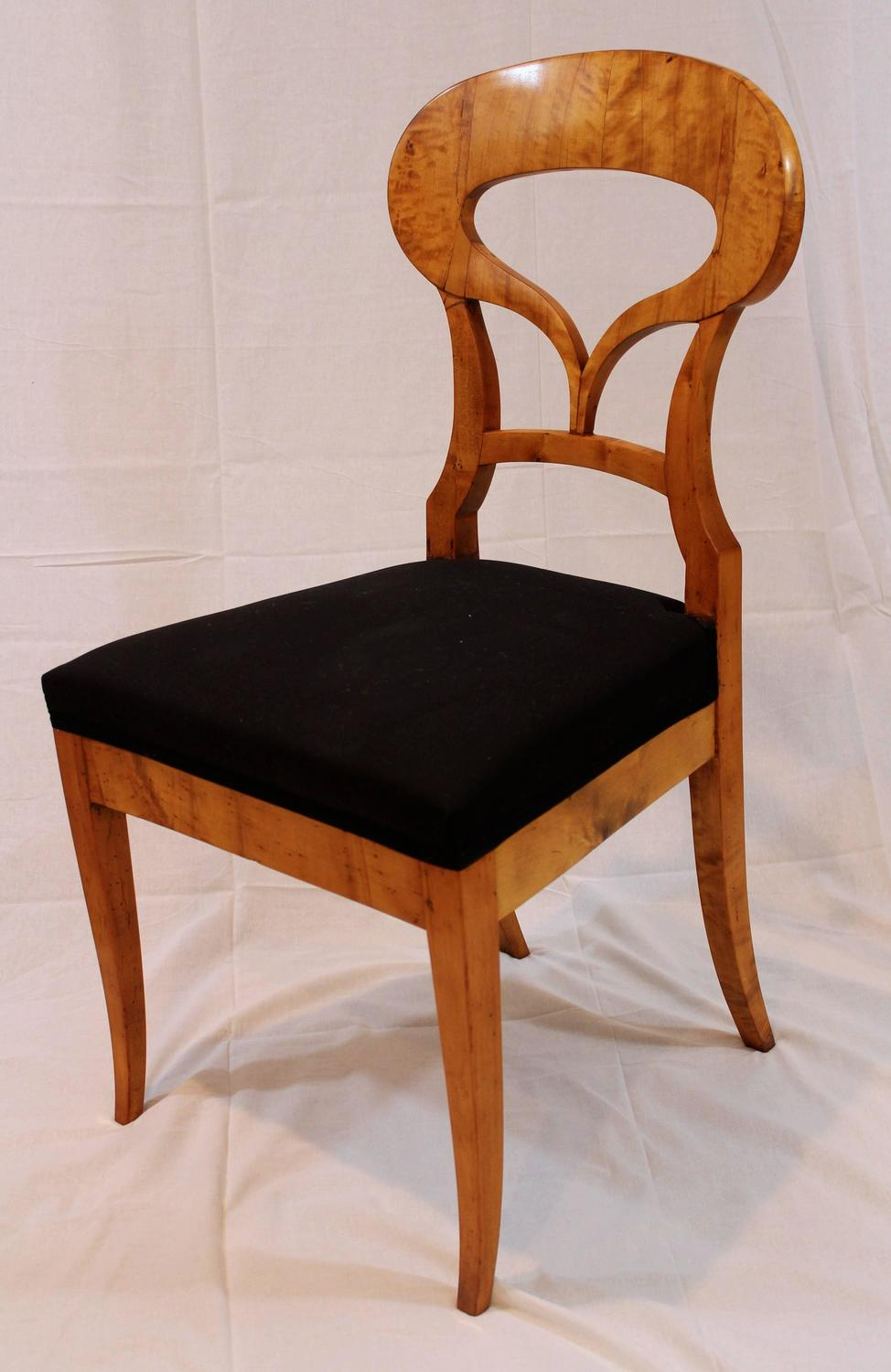 Set of Four Biedermeier Chairs at 1stdibs