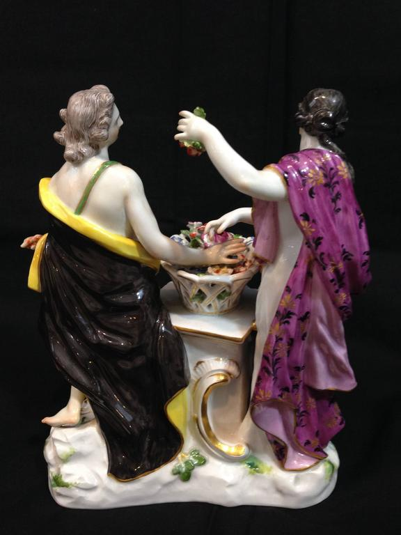 Rococo 19th Century Meissen Porcelain Figure For Sale
