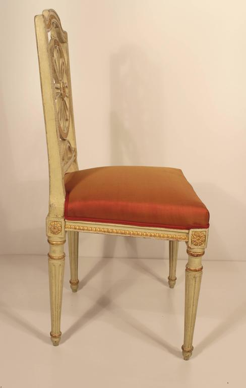 Early 19th Century Set of Four Gustavian Chairs For Sale