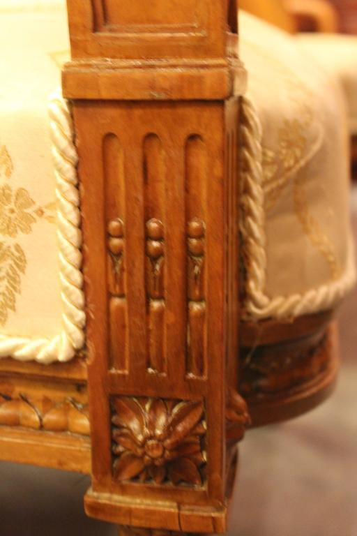 Pair of 19th Century Louis XVI-Style Armchairs In Good Condition For Sale In Belmont, MA