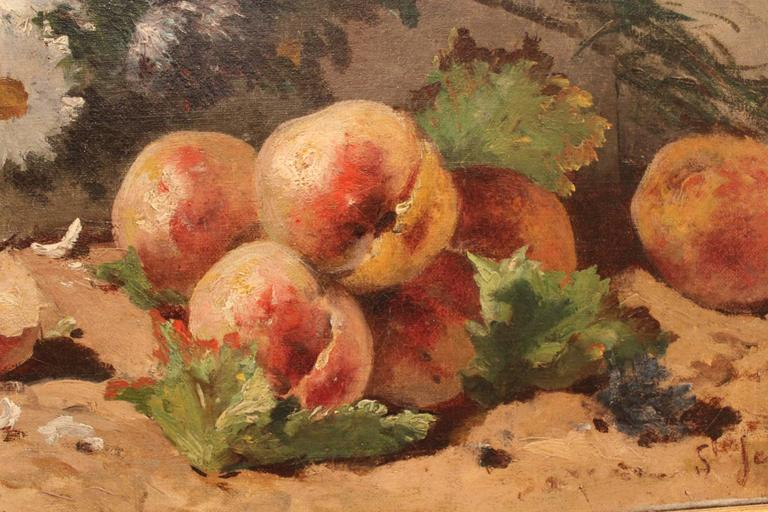 Painted 19th Century Still Life Painting For Sale