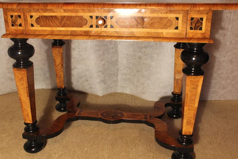 Veneer 18th Century German Baroque Table For Sale