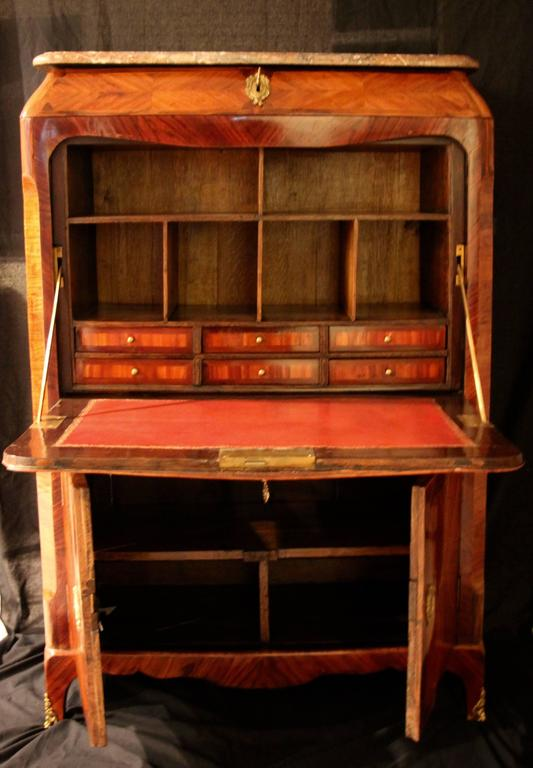 18th century louis xv secretaire a abattant at 1stdibs. Black Bedroom Furniture Sets. Home Design Ideas