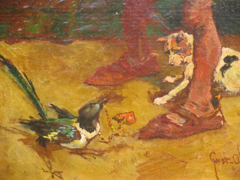 20th century painting by Gustav Ohm, German painter,