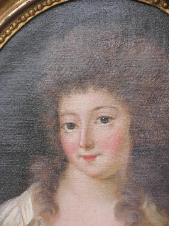French Pair of 18th Century Portraits For Sale